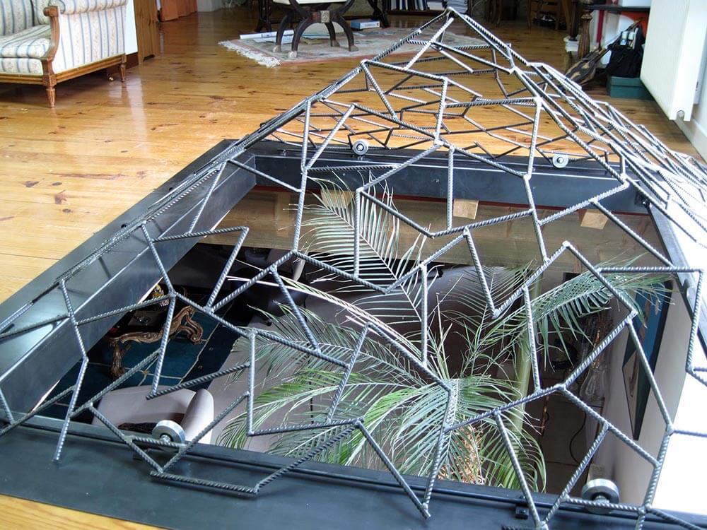 pyramide puits de jour 2 eidos atelier de ferronnerie. Black Bedroom Furniture Sets. Home Design Ideas
