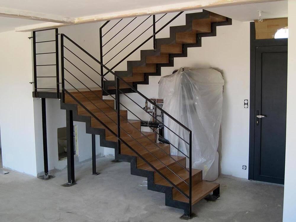 Escalier double quart tournant - EIDOS, Atelier de Ferronnerie d\'art